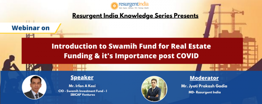 Webinar on Introduction to Swamih Fund for Real Estate Funding