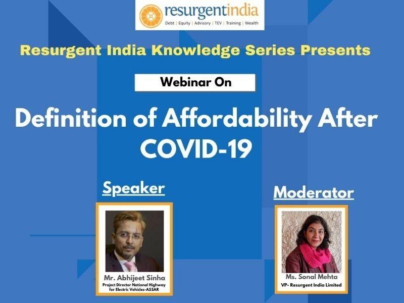 Webinar on Definition of Affordability after COVID-19