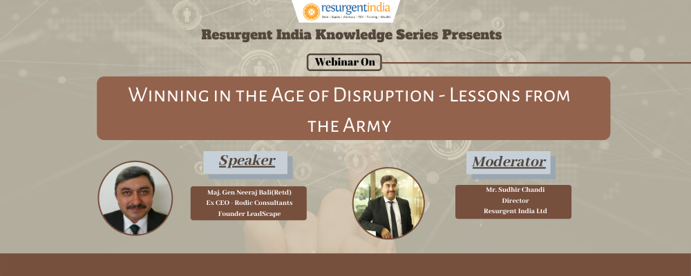 Webinar On Winning in The Age of Disruption Lessons From The Army