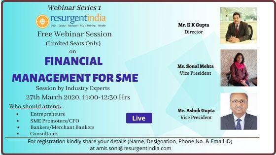 Webinar on-Financial Management for SMEs