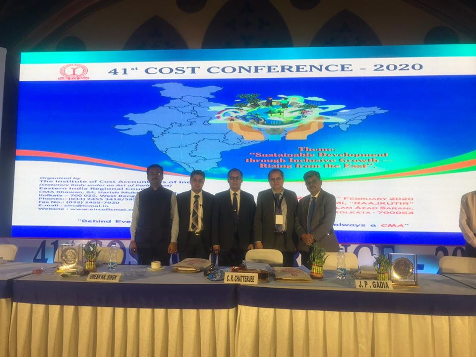 41st Cost Conference organized by The Institute of Cost Accountants of India Held in Kolkata-29th February 2020