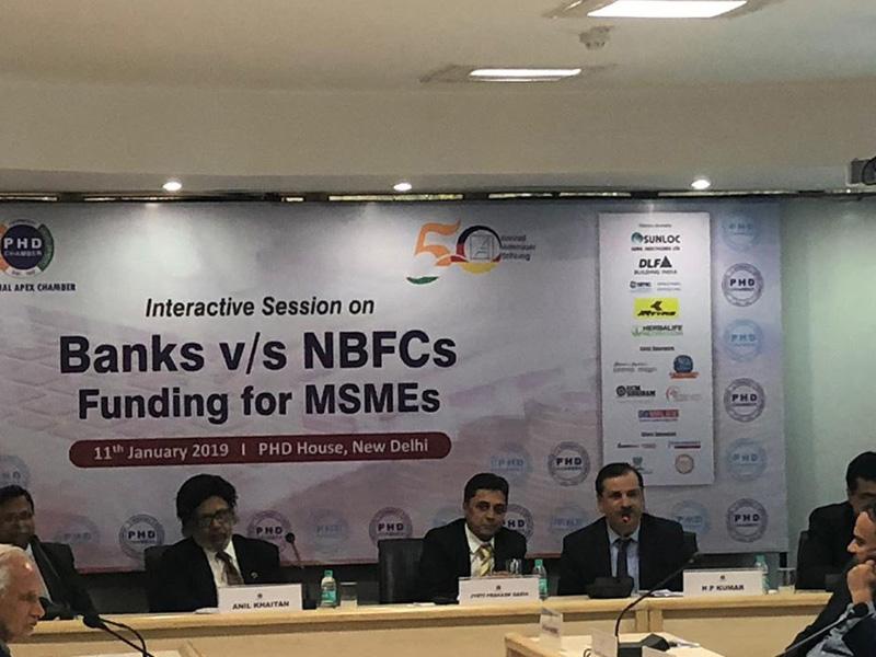 Banks V/S NBFCs Funding for MSMEs at New Delhi -11th Jan 2019