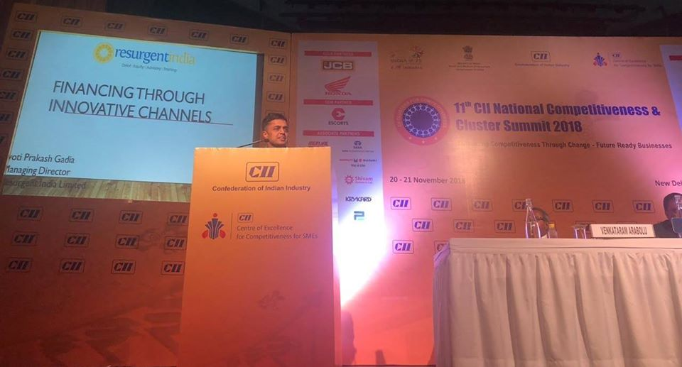 11th CII National Competitiveness and Cluster Summit at New Delhi -20th Nov 2018