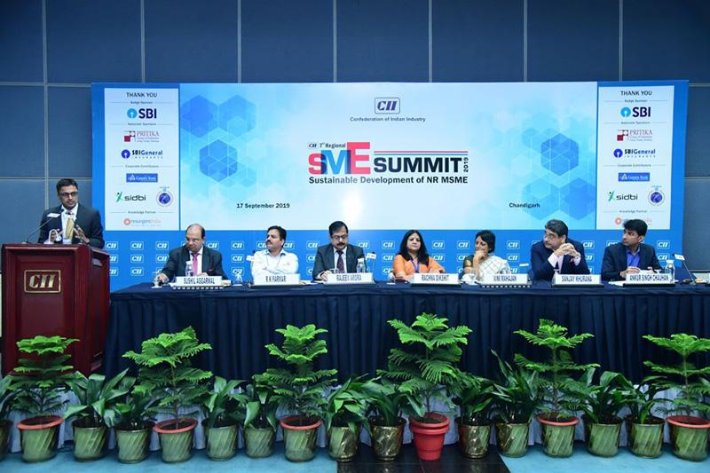 7th CII Regional SME Summit at Chandigarh -17th Sept 2019