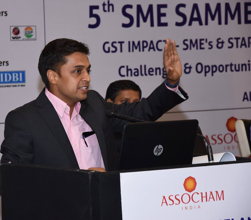 5th ASSOCHAM SME Sammellan held in Hotel Metropole, Ahmedabad -29 July, 2017