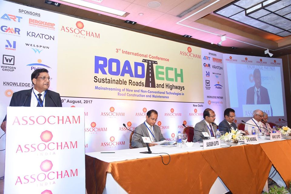 3rd International Conference Roadtech Sustainable Roads and Highways, New Delhi- 29th August 2017